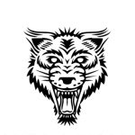 Foxes and Wolves wolfhead logo